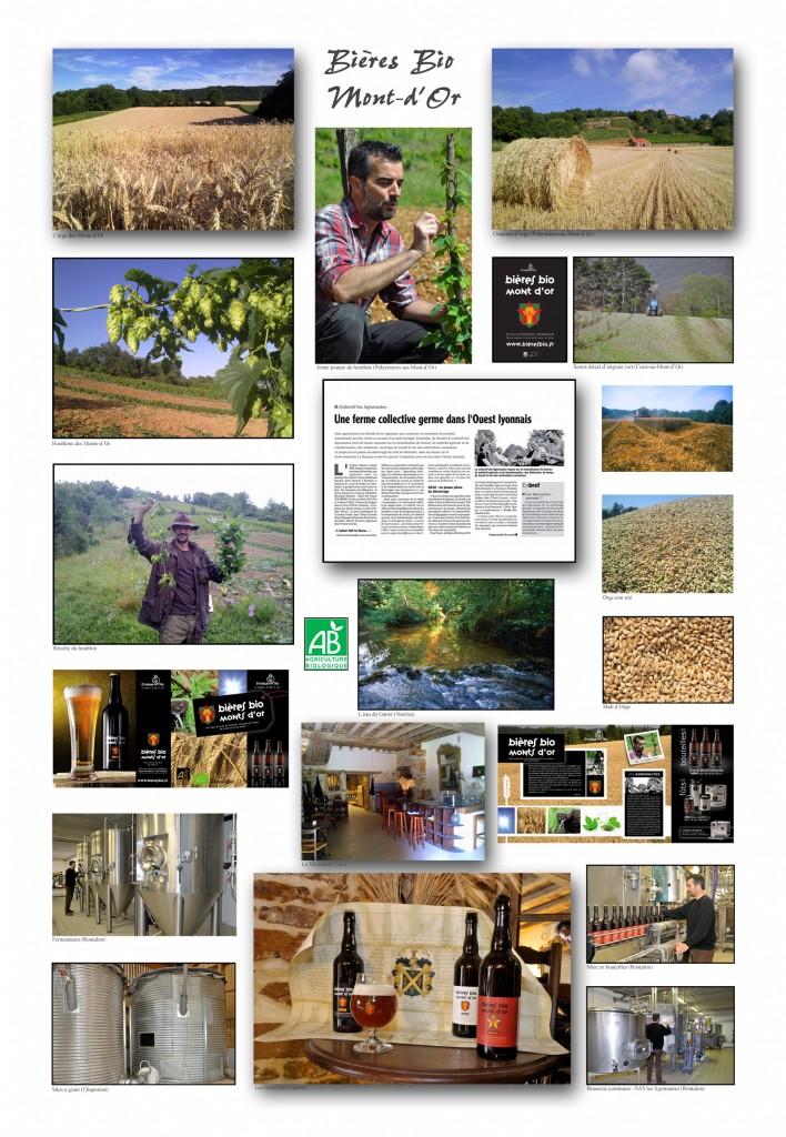 Affiche Bieres Bio Mont d'Or
