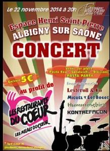 Concert Resto du Coeur - Albigny 221114